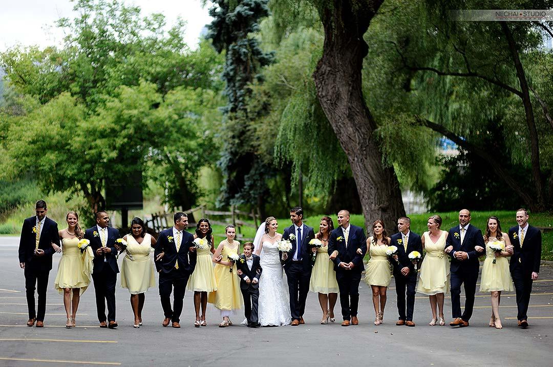 Before-Big bridal party at fantasy farm retouched photos